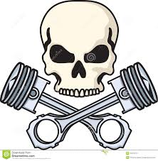 skull and pistons stock vector image of bones motorcycle 21010177