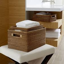 Wicker Bathroom Accessories by Bathroom Storage Crate And Barrel