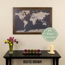 World Map With Pins by Earth Toned World Push Pin Travel Map With Pins 24x36