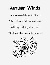 the crafty teacher fall poem for kindergarten september