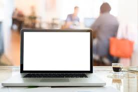 Laptop On Desk Feeling Relax Laptops On Desk In Workspace Coffee Cafe With