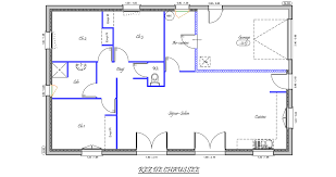 plan de maison plein pied gratuit 3 chambres unique maison plain pied 3 chambres ravizh com