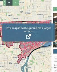 Detroit Zip Code Map A District In Crisis Loveland