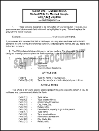 maine last will and testament form download free u0026 premium