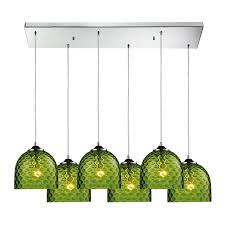 Green Glass Pendant Light Shop Westmore Lighting Avia 30 In Polished Chrome And Green Glass