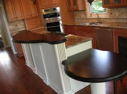 exciting raised kitchen breakfast bar come with white wooden