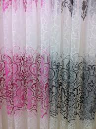 Plaid Curtain Material 30m Selling Window Curtain Fabric Door Butterfly Tulle Voile