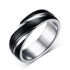 mens wedding bands mens wedding bands suppliers and manufacturers bague acier homme bicolore bague homme 316l
