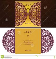 Wedding Invitation Cards Templates Free Download Die Cut Wedding Invitation Card Template Paper Cut Out Card With