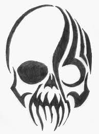 tribal skull by xxbytemexx on deviantart