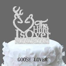 buck and doe wedding cake topper the hunt is wedding cake topper buck doe and custom date cake