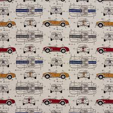 Automobile Upholstery Fabric Automobile Vintage Race Car Classic Pattern Damask Upholstery Fabric