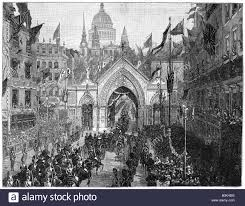 medieval times thanksgiving the procession at ludgate hill thanksgiving day london 1900