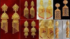 gold jhumka earrings design with price gold earrings designs with price clipzui