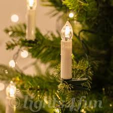 20 warm white led clip on candle tree indoor