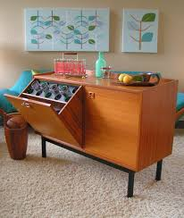 Teak Mid Century Modern Furniture by Mid Century Modern Danish Teak Sideboard Has A Tilt Open Bar