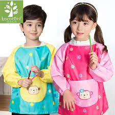 children boys waterproof sleeve smock apron 2017 new