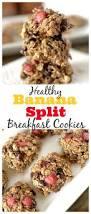 healthy banana split breakfast cookies