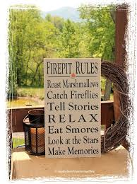 Firepit Signs Firepit Sign Typography Wood Sign Outdoor Decor Firepit