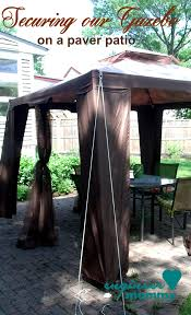 Backyard Gazebos Canopies by Tips To Secure A Gazebo Canopy On A Paver Patio Gazebo Canopy