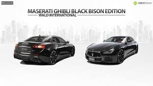 maserati black maserati ghibli black bison edition by wald international
