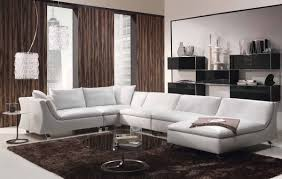 Decorating Ideas For Living Rooms With Brown Leather Furniture Luxury And Modern Living Room Design With Modern Sofa Luxury