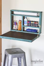 painted fold down desk desks room and bedrooms