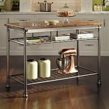 shop kitchen islands carts at lowes com home styles gray industrial prep tables