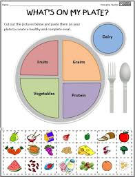 nutritional health worksheets what u0027s on my plate simple way