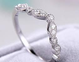 Cubic Zirconia Wedding Rings by Cz Wedding Band Etsy