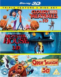 cloudy chance meatballs 3d monster house 3d open