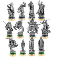 noble collection lord of the rings chess pieces the return of