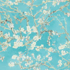 contemporary wallpaper fabric floral chinoiserie turquiose