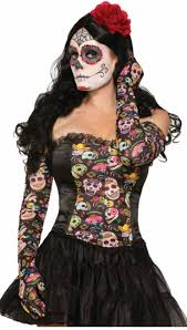 day of the dead costume day of the dead gloves accessories makeup
