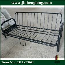 futon metal sofa bed 2 fold metal futon bed view futon bed jinhenglong product details