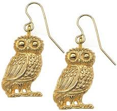 owl earrings sale authentic reproduction of the athena owl