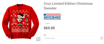 ted selling ugly christmas sweater for cyber monday 2015