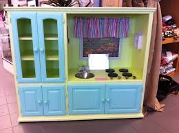 Play Kitchen From Old Furniture by Play Kitchen Made Out Of Old Entertainment Center Saw This At A