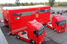 ferrari truck give these ferrari f1 trailers a new home