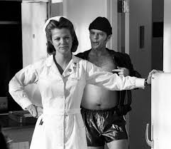 jack nicholson between takes of one flew over the cuckoo s nest