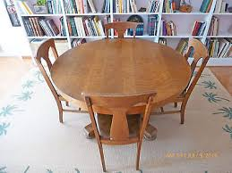Antique Round Oak Pedestal Dining Table 1900 1950 Dining Sets Furniture Antiques Picclick