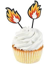 firefighter cupcake toppers 24pcs fireman cupcake toppers cake picks fighters