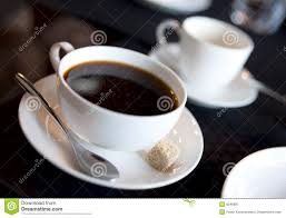 americano americano with espresso cup in background stock image image 9249887