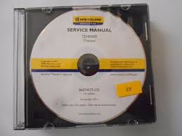 new holland td4040f tractor service shop repair manual book cd