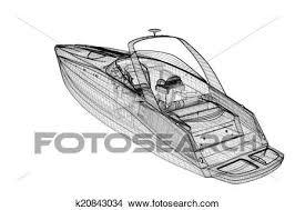 drawings of speedboat speeding powerboat k20843034 search clip