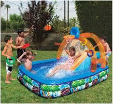 backyards trendy inflatable water slide outdoor pool kids fun