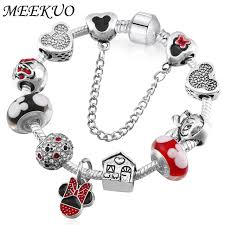pandora bracelet murano beads images Handmade cute children mickey charms fit europe and united states jpg