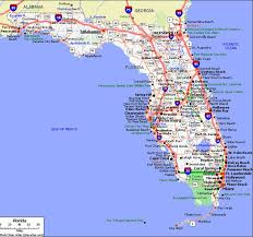 florida highway map detailed road map of florida deboomfotografie