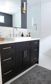 bathrooms with black vanities black bathroom vanity with gold hardware vintage bathroom