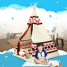 children indian toy teepee safety tent portable playhouse kids